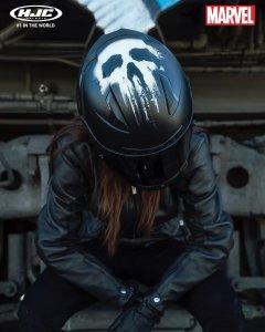 Punisher (kat, mstitel) na přilbě HJC FG-ST