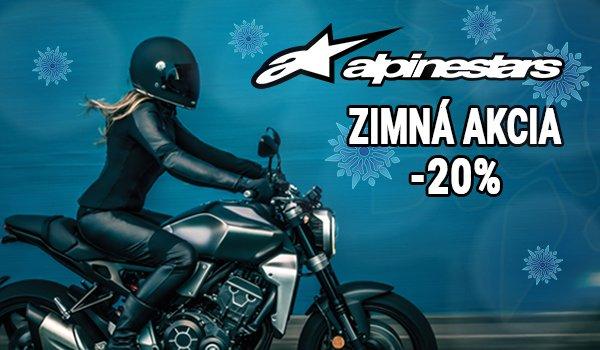Zimná akcia na motooblečenie Alpinestars