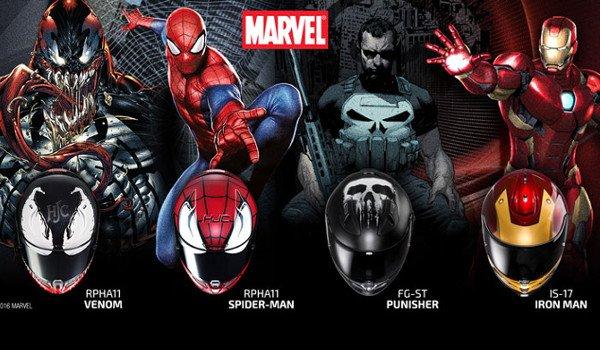 Komiksoví hrdinové od MARVEL na přilbách