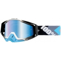 100% brýle RACECRAFT Hyperion Blue mirror/blue