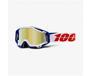 100% brýle RACECRAFT Bibal white mirror gold
