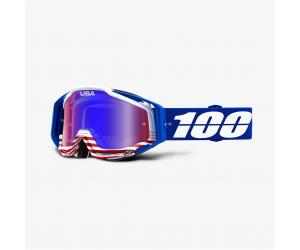 100% brýle RACECRAFT Anthem mirror red/blue