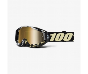 100% brýle RACECRAFT Ergoflash mirror true gold