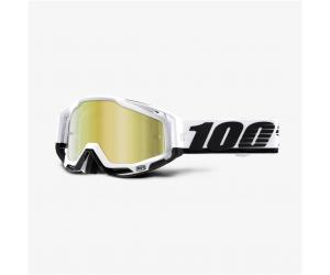 100% brýle RACECRAFT Stuu mirror gold