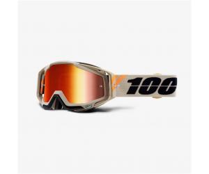 100% brýle RACECRAFT Poliet mirror red