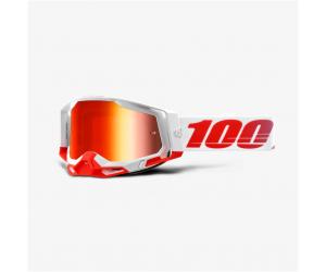 100% brýle RACECRAFT 2 St-Kith mirror red