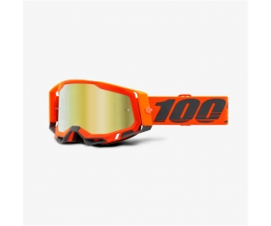100% brýle RACECRAFT 2 Kerv mirror gold