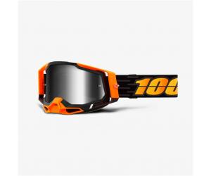 100% brýle RACECRAFT 2 Costume 2 mirror silver