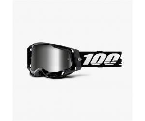 100% brýle RACECRAFT 2 Black mirror silver