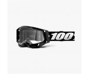 100% brýle RACECRAFT 2 Black clear