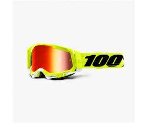 100% brýle RACECRAFT 2 Yellow mirror red