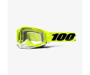 100% brýle RACECRAFT 2 Yellow clear