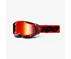100% brýle RACECRAFT 2 Red mirror red