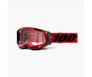 100% brýle RACECRAFT 2 Red clear