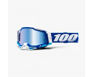 100% brýle RACECRAFT 2 Blue mirror blue