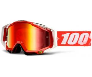 100% brýle RACECRAFT Fire Red mirror/red
