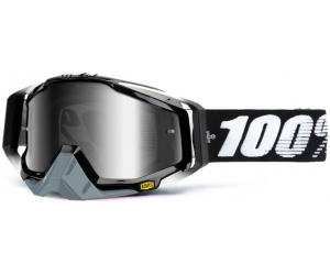 100% brýle RACECRAFT Abyss Black mirror/silver