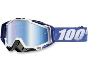 100% brýle RACECRAFT Cobalt Blue mirror/blue