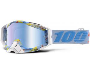 100% brýle RACECRAFT Hyperloop mirror/blue