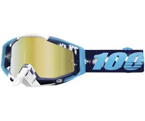 100% brýle RACECRAFT Tiedye mirror/gold