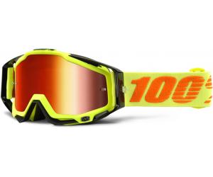 100% brýle RACECRAFT Attack Yellow mirror/red