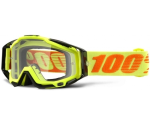 100% brýle RACECRAFT Attack Yellow clear