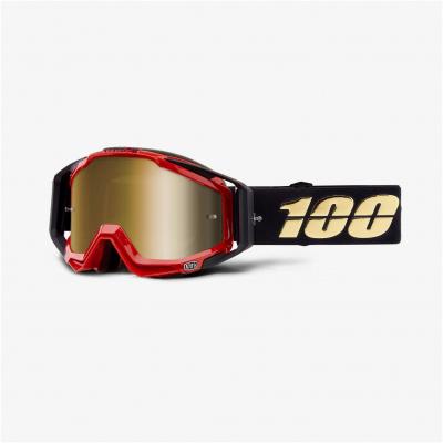 100% brýle RACECRAFT Hotrod mirror true gold