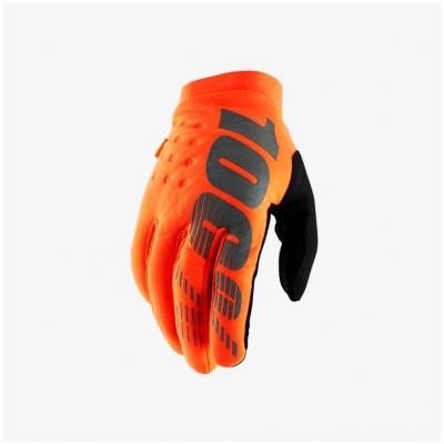 100% rukavice BRISKER orange