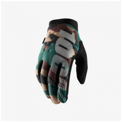 100% rukavice BRISKER camo/black