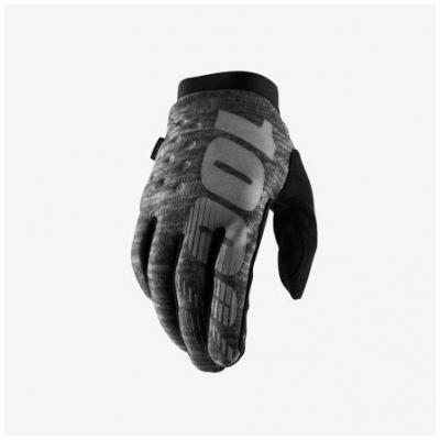 100% rukavice BRISKER grey/black