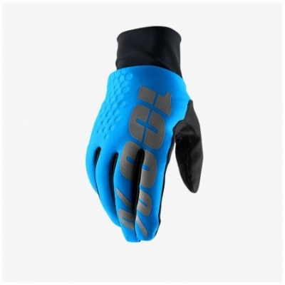 100% rukavice HYDROMATIC BRISKER blue/black