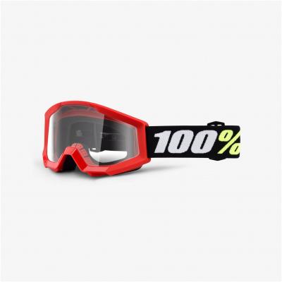 100% brýle STRATA Mini dětské red/clear