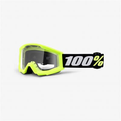 100% brýle STRATA Mini dětské yellow/clear