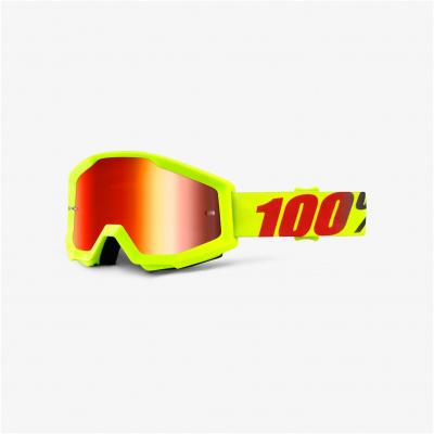 100% brýle STRATA Mercury mirror red