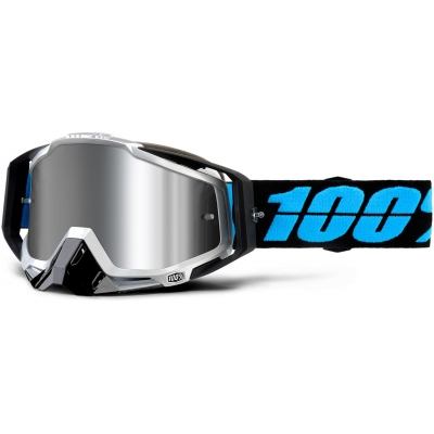 100% okuliare RACECRAFT + Daffed mirror silver