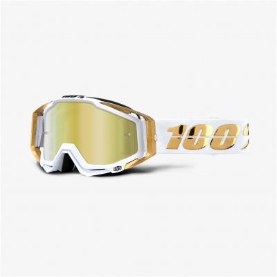 100% brýle RACECRAFT LTD mirror gold