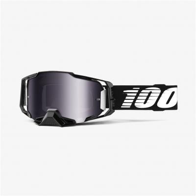 100% brýle ARMEGA Black silver/mirror