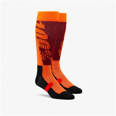 100% ponožky HI-SIDE burgundy