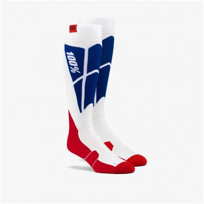100% ponožky HI-SIDE white/blue
