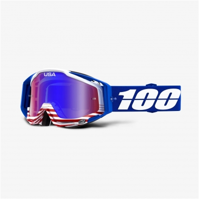100% okuliare RACECRAFT Anthem mirror red / blue