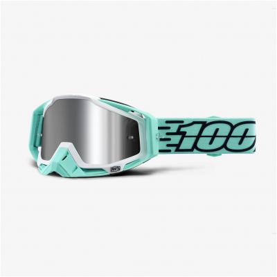 100% okuliare RACECRAFT + Fast mirror silver