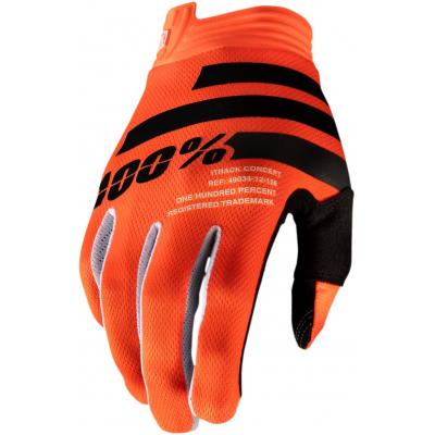 100% rukavice ITRACK orange/black