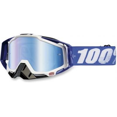 100% okuliare RACECRAFT Cobalt Blue mirror / blue