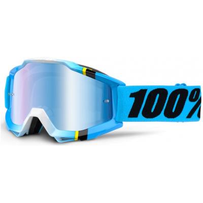 100% brýle ACCURI Blue Crystal mirror/blue