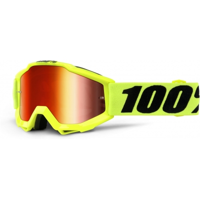 100% brýle ACCURI Junior Fluo Yellow dětské mirror red