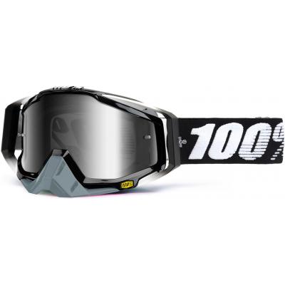 100% brýle RACECRAFT Legacy mirror/silver