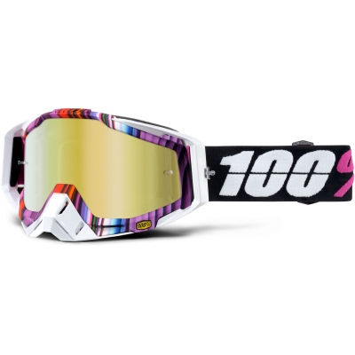 100% brýle RACECRAFT Glitch mirror/gold