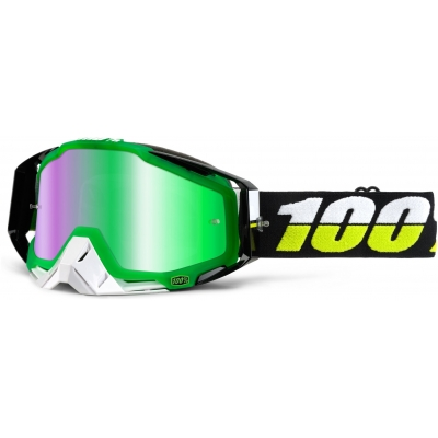 100% brýle RACECRAFT Simbad mirror/green