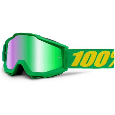 100% okuliare ACCURI Forrest mirror/green