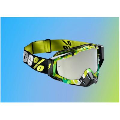 100% brýle RACECRAFT Bootcamp mirror/silver